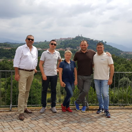 from right to left Massimo Marin, Sergii Ukrainsky, Yulyia Martinenko, Marco Forzano, Stefano Degliesposti